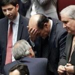 Bersani si dimette da segretario del PD. Accanto a lui Guglielmo Epifani