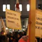 Manifestazione contro legge spagnola sull'aborto Bruxelles 29-01-2014